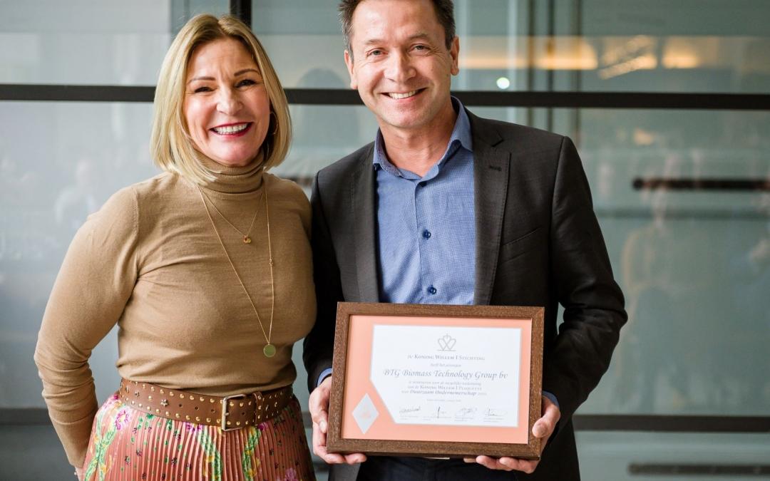 BEON deelnemer BTG genomineerd voor Koning Willem I Plaquette