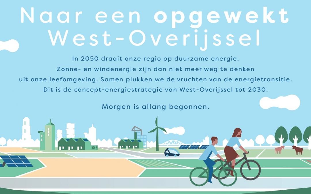 West-Overijssel wil in 2030 de helft van het elektraverbruik duurzaam opwekken
